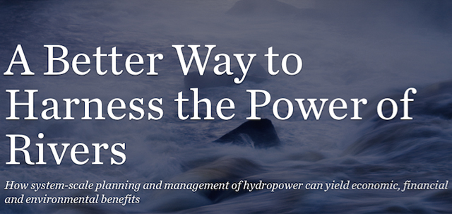 The Nature Conservancy publishes the study 'The Power of Rivers: a business case' done in partnership with PSR
