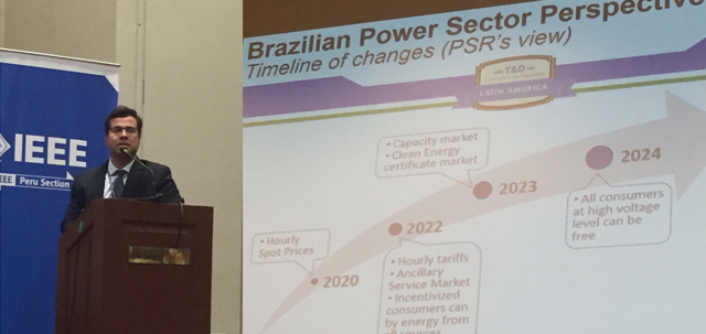 """PSR's technical director Bernardo Bezerra presents """"Brazilian power sector perspectives"""" in IEEE PES Transmission and Distribution Conference and Exhibition – Latin America"""